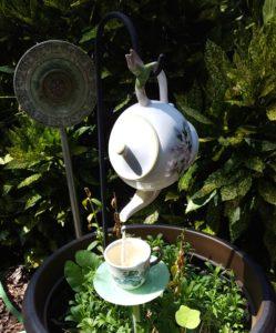 Reuse vintage items as garden decor