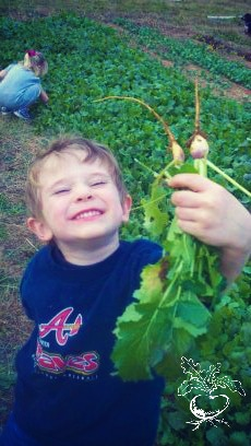 Turnips and kids at youshouldgrow.com