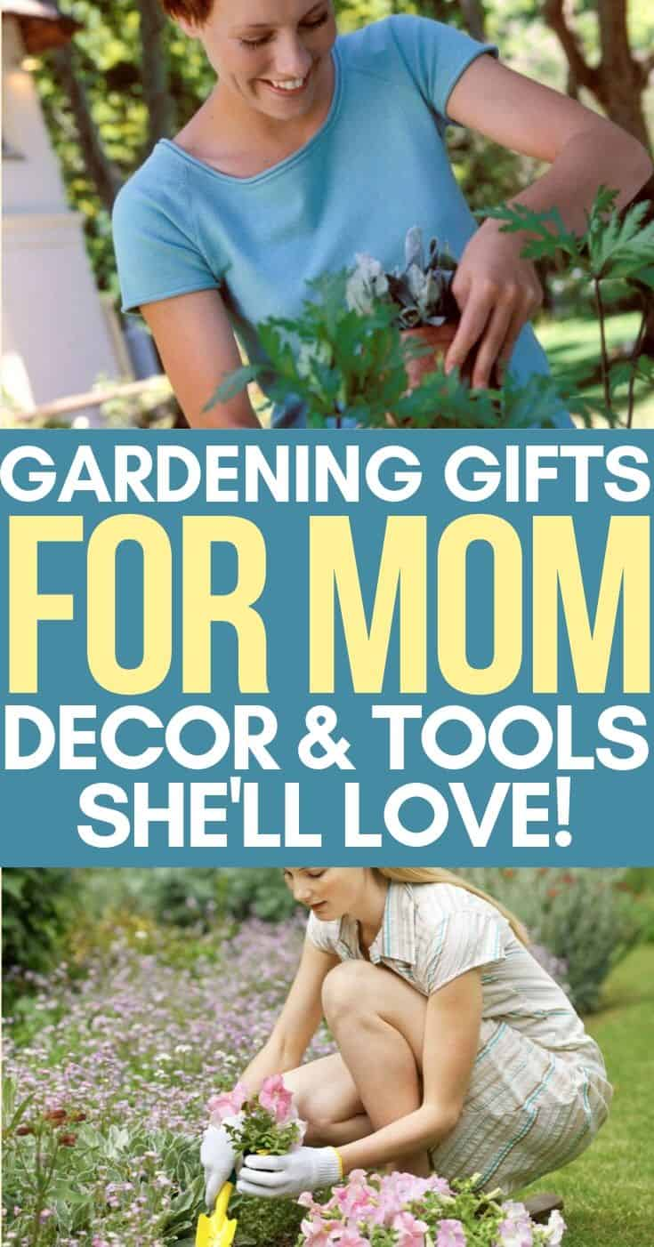 Gift ideas for mom. If your mom is a gardener, she's sure to love these gardening gift ideas!