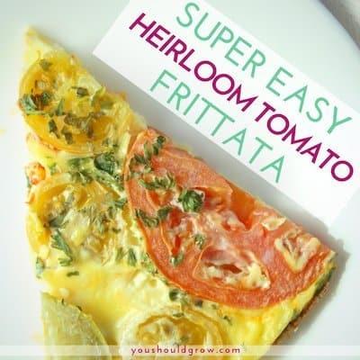 Heirloom Tomato and Basil Frittata (Gluten Free + Keto Friendly)