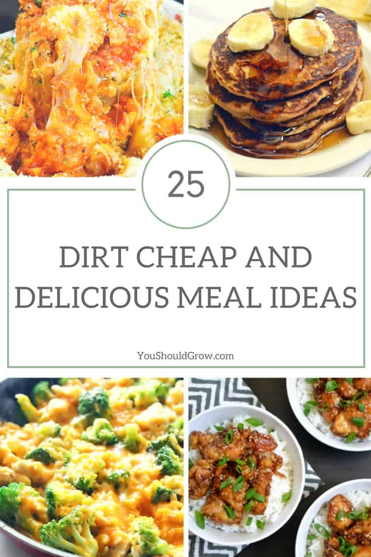 25 Dirt Cheap and Delicious Meal Ideas | You Should Grow