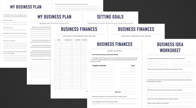 Screenshots of business journal pages