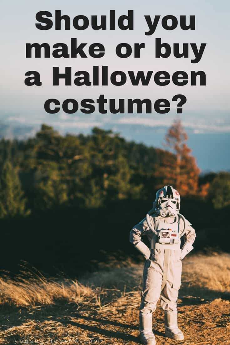 How do you decide whether to make or buy a Halloween costume? Get tips to help you make your decision.