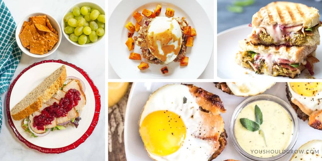 Ways to use Thanksgiving leftovers for breakfast and brunch.