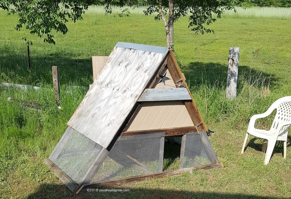 a-frame chicken coop diy