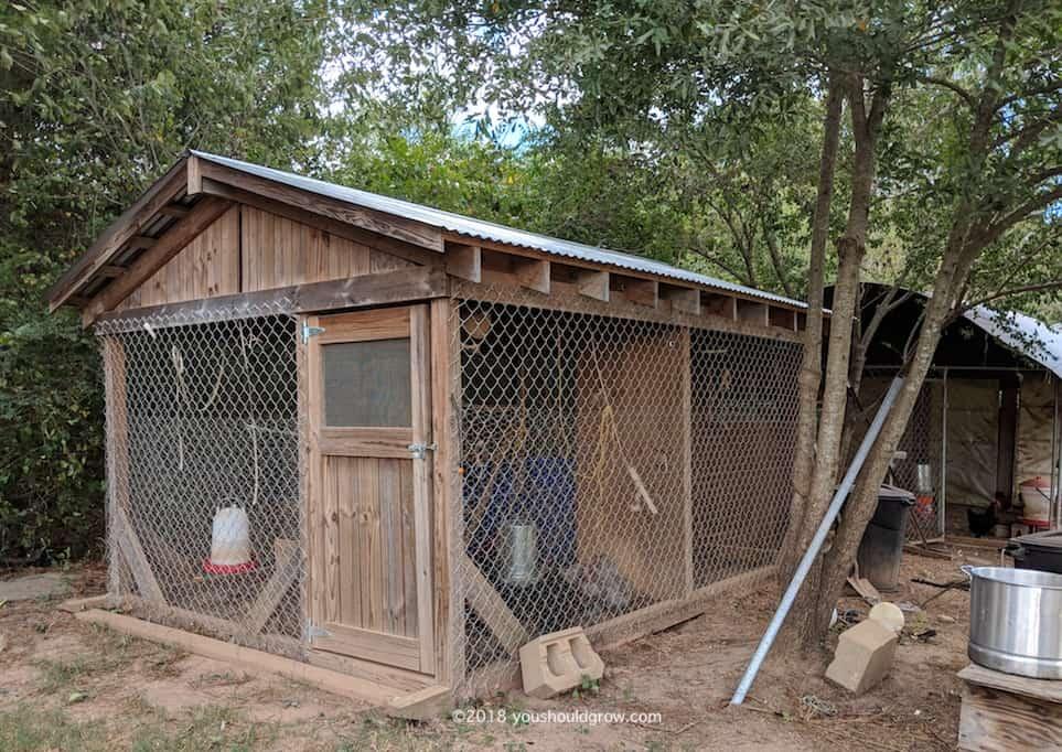hand built chicken coop picture