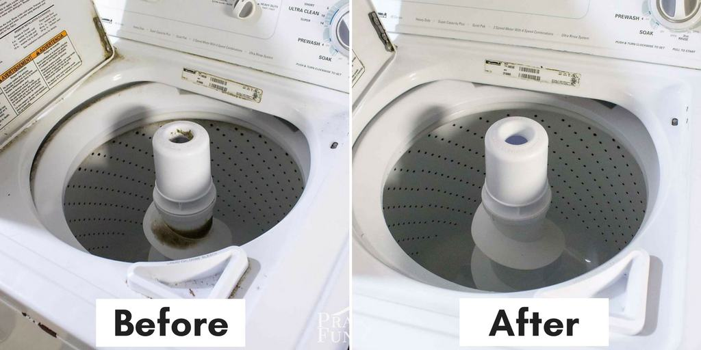 cleaning tips and hacks: top loading washing machine