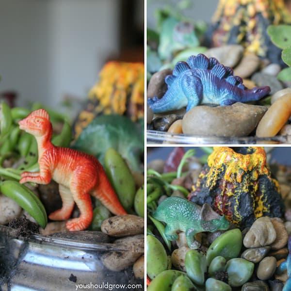 Miniature dinosaur garden diy