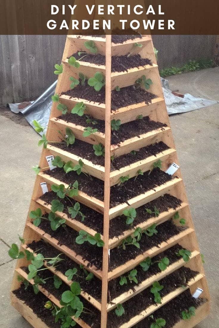 diy vertical garden tower