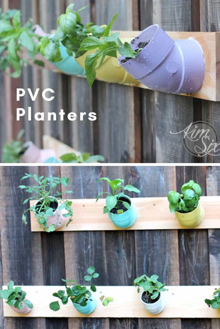 diy vertical garden using pvc elbow